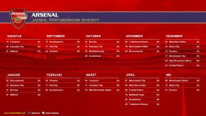 wallpaper jadwal pertandingan arsenal 2016-2017
