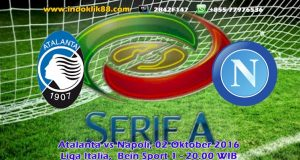 live bola streaming atalanta vs napoli 02 oktober 2016